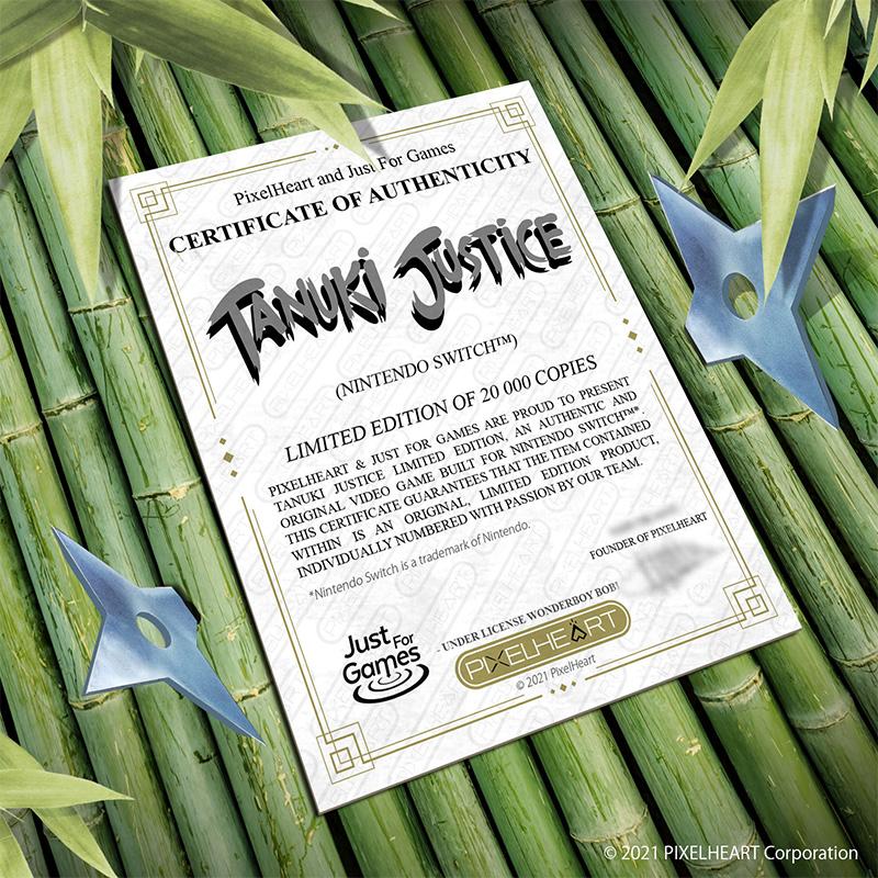 Tanuki Justice - Certificate | Nintendo Switch